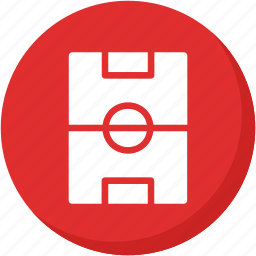 red, soccer, sports, square icon
