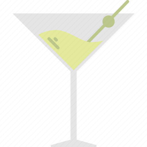alcohol, cocktail, martini, olive icon