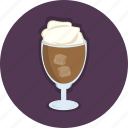 coffee, cold, food, frappe, glass, shop icon