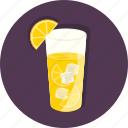 cubes, drinks, food, ice, lemon, orange, refreshing icon