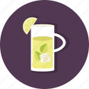 citrus, food, jar, lemon, lemonade, mint, refreshing icon