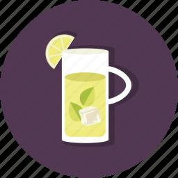 citrus, food, jar, lemon, lemonade, mint, refreshing icon