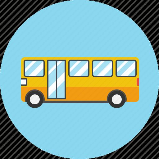 automobile, bus, transport, transportation, travel, vachiele icon
