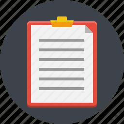 chart, checklist, data, document, list, report, text icon
