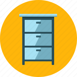 business, cabinet, desk, drawer, furniture, interior, office icon