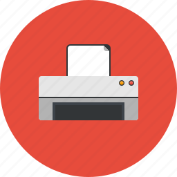 computer, device, hardware, print, printer, printing, technology icon