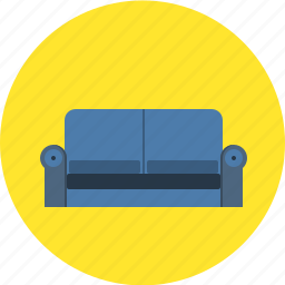 couch, furnishings, furniture, home decor, households, interior, sofa icon