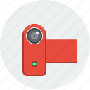 cam, camcorder, movie, multimedia, recording, video, video camera icon