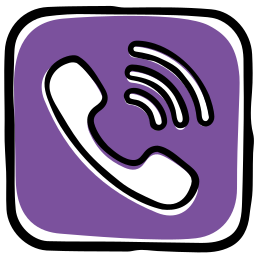 app, call, communication, media, messages, phone, social, viber icon
