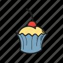 bakery, cake, cupcake, dessert, romantic, sweet icon