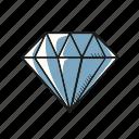 diamond, gem, jewelry, romantic, valentine, wedding icon