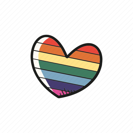 favorite, heart, lgbt, romantic, valentine icon