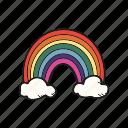 cloud, rainbow, weather icon