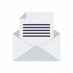 business, envelope, letter, mail, message, newsletter, office icon