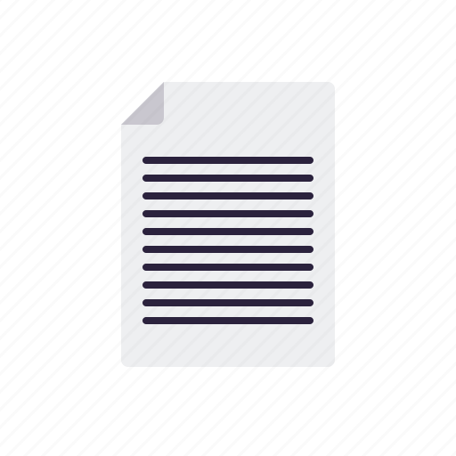 business, document, letter, message, office, paper, text icon