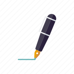 business, contract, fountain pen, office, pen, signature, writing icon