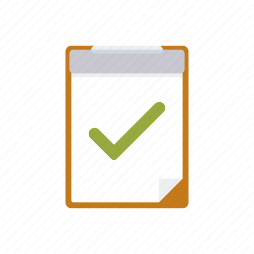 business, checklist, checkmark, clipboard, office, passed, test icon
