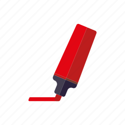 business, emphasis, felt tip pen, highlighter, marker, office, red icon