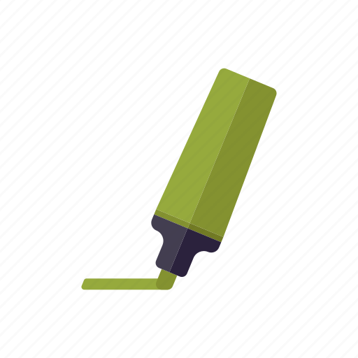 business, emphasis, felt tip pen, green, highlighter, marker, office icon