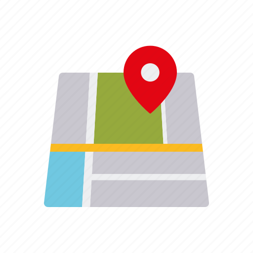 business, directions, location, map, navigation, office, travel icon