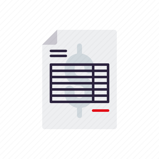 account, bill, business, document, finance, invoice, office icon