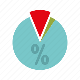 business, infographics, office, percentile, pie chart, shares icon