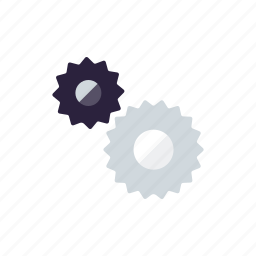 business, cogs, gears, machinery, office, settings, transmission icon