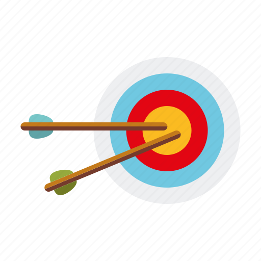 archery, arrows, aspirations, business, marketing, office, target icon