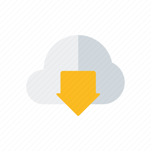 business, cloud, data, downloading, office, service, technology icon