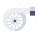 automotive, car, parts, repair, service, transport, turbocharger icon