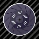 automotive, car, clutch disc, parts, repair, service, transport icon