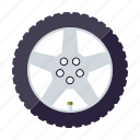 automotive, car, parts, rim, tire, transport, wheel icon
