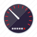 automotive, car, parts, repair, service, speedometer, transport icon
