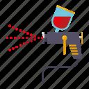 automotive, car, paint gun, parts, repair, service, transport icon