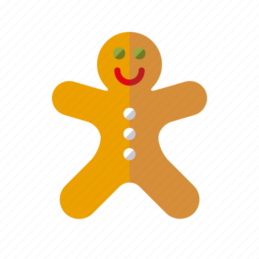 christmas, cookie, gingerbread man, holidays, season, winter icon