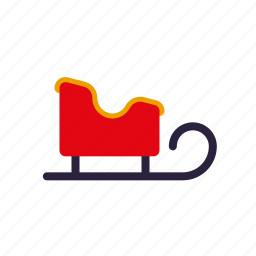 christmas, holidays, season, sled, winter icon