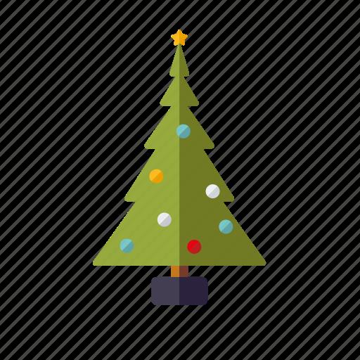 baubles, christmas, christmas tree, decoration, holidays, season, winter icon