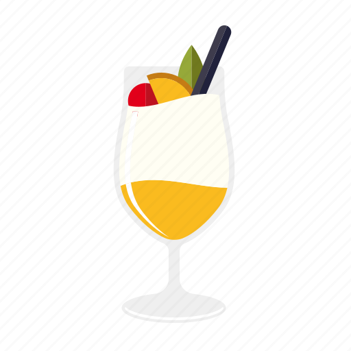 alcohol, beverage, cocktail, drink, glass, pina colada, pineapple icon