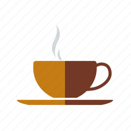 beverage, coffee, cup, drink, hot, saucer, steam icon