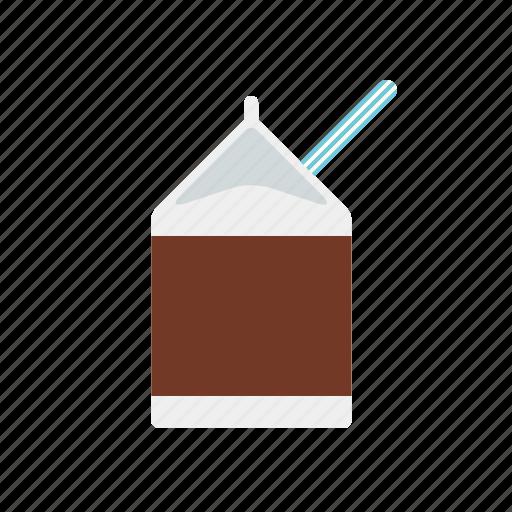 beverage, box, carton, chocolate, dairy, drink, milk icon