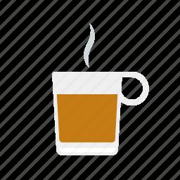 beverage, drink, glass, hot, steam, tea icon