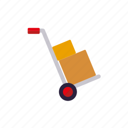 delivery, dolly, hand truck, retail, sack barrow, shipping, transport icon