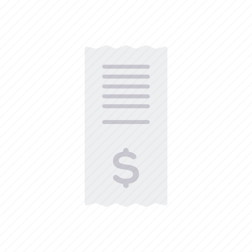 bill, commerce, payment, receipt, retail, shopping, trade icon