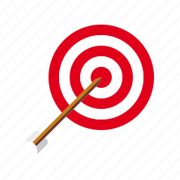 aiming, archery, arrow, sports, target icon
