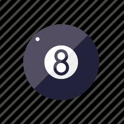 ball, billiards, eight, pub sports icon