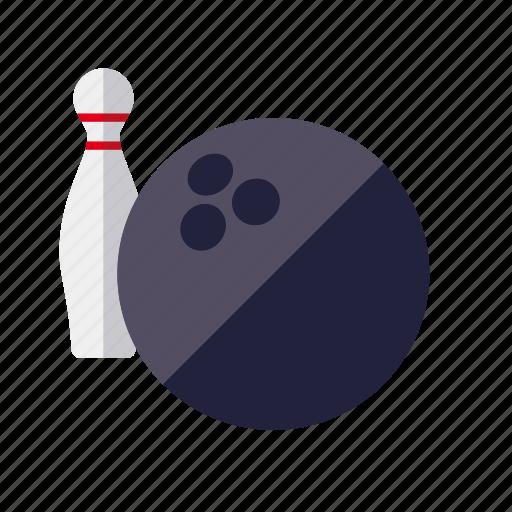 ball, bowling, pin, sports icon