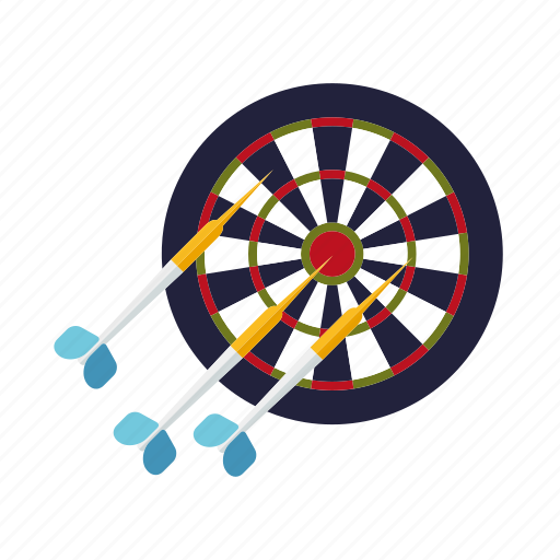 arrow, bulls eye, dart, darts, pub sports, sports, target icon