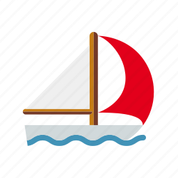 boat, sailing, spinnaker, sports, water sports, wave icon