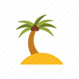 beach, holidays, island, palm tree, summer, travel, vacations icon