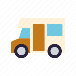 camper van, camping, mobile home, motorhome, tourism, travel, vacations icon